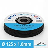 20discos de corte Diámetro 125mm x 1.0mm para amoladora angular Acero Inoxidable Acero Flex Disco inox metal