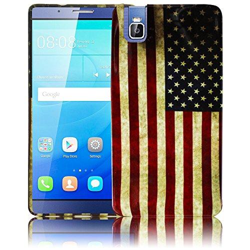 Huawei ShotX / Honor 7i USA Silikon Schutz-Hülle weiche Tasche Cover Case Bumper Etui Flip smartphone handy backcover thematys®