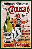 Couzan Mineralwasser Targa di Latta Poster Metallo Segno Curvato Targhe Metallo 20x 30 CM
