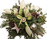 BLUMENSTRAUß Weihnachten | Tanne | AMARYLLIS weiß | DEKO weiß | vom Meister |