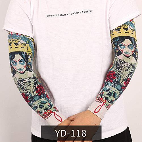 Tfsg Armlinge Sommer Herren Outdoor Sonnencreme Ärmel Tattoo Arm Tattoo Mode Nylon Gefälschte Temporäre Tätowierung Ärmel Arm Strümpfe Halloween Tattoo Weich Für Männer Frauen @ YD-118