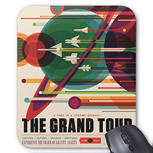 The Grand Tour - Retro NASA Travel Poster Mousepad -