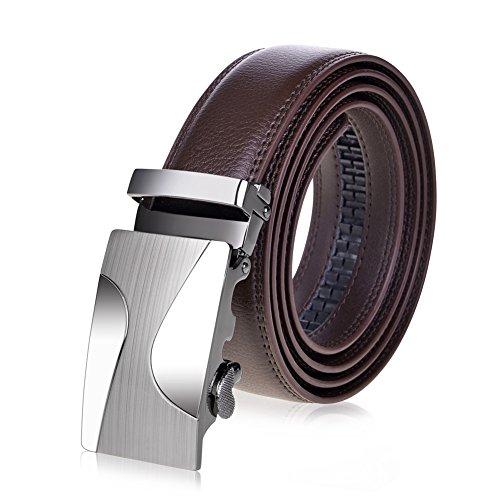 """VBIGER Men's Belts Automatic Buckle Waist Belt 1.5"""""""