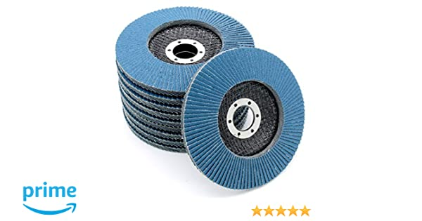 Grinding discs │ 5 pieces │ /Ø 125 x 6.0 mm │ for cutting or angle grinders │ Abrasive Mop Discs │ For Steel /& Non-Metal