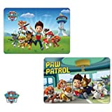 PAT PATROUILLE, MARCUS, CHASE, STELLA Kids Table Mat Place Mat with 3D Paw Patrol Designs (Set of 2)