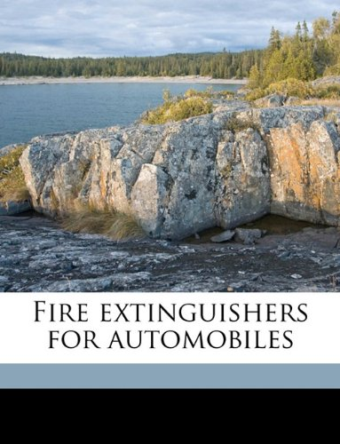 Fire extinguishers for automobiles