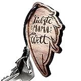 schenkYOU® Schlüsselanhänger aus Holz Engel Flügel - Gravur Mutter