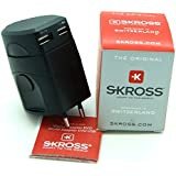 Skross World Travel Adapter 2 With Dual USB Charger. Swiss Designed For Safety And Quality. Charge iPads, iPhones, iPods, Blackberrys And Other USB Devices In Over 150 Countries. As Stocked By Major World Airlines