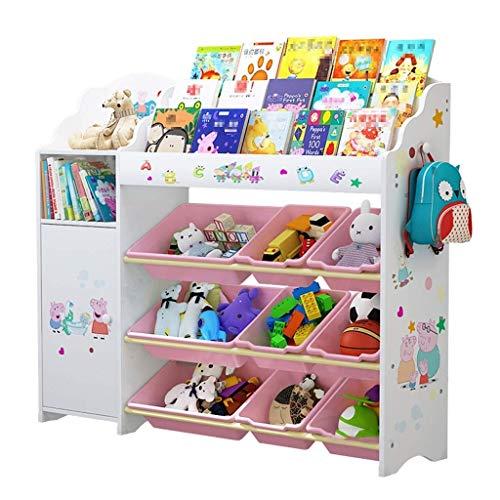 LXSG Kinder Spielzeug Lagerregal, Baby Spielzeug Lagerschrank, Kinderzimmer Finishing Rack Student Bücherregal-114cm * 34cm * 100cm -