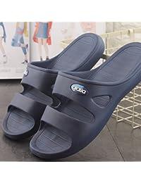 BAOZIV587 Casa all aperto pantofole Sandali e ciabatte da uomo e donna  leggeri per l estate accoppiano casa pantofole antiscivolo da… d9d686c73b9