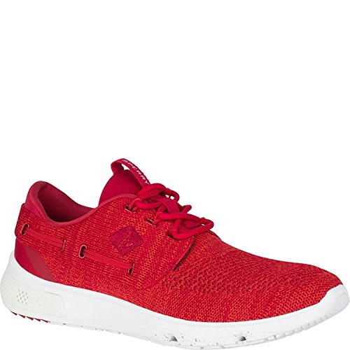 Sperry Athletic Sneakers (Sperry Top-Sider Men's 7 Seas 3-Eye Boating Shoe, Red, 10 M US)
