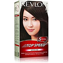 Revlon Top Speed Hair Color Woman, Dark Brown 65