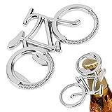 Tutoy Portatile creativo bottiglia di birra apribottiglie portachiavi anello chiave per ciclisti amante bici