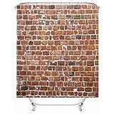 X-Labor - Tenda da doccia in tessuto impermeabile antimuffa, motivo pietra con 12 anelli per tenda da doccia, lavabili, 240 x 200 cm., tessuto, Muster-b, 180*200cm (B*H)