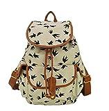 SIncek Backpack Rucksack teenage School Bag Girl Lady Student Sweet Canvas Colors Backpack