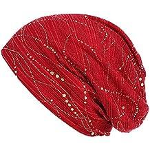 Elecenty Cappello Musulmano Donna Solid Bead Cappellino avvolgente con  cappello a turbante retrò elasticizzato d443cba538a5