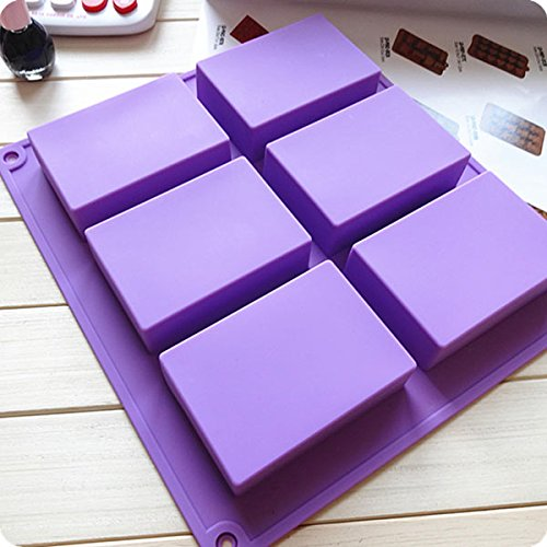 Fairy 6 Cavity Soap Molds Rectangle Silicone Mold for Soap, Chocolate, Cake, Bread, Biscuit