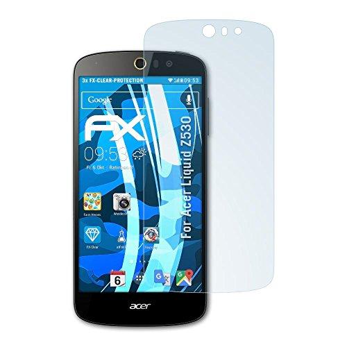 atFolix Schutzfolie kompatibel mit Acer Liquid Z530 Folie, ultraklare FX Bildschirmschutzfolie (3X)