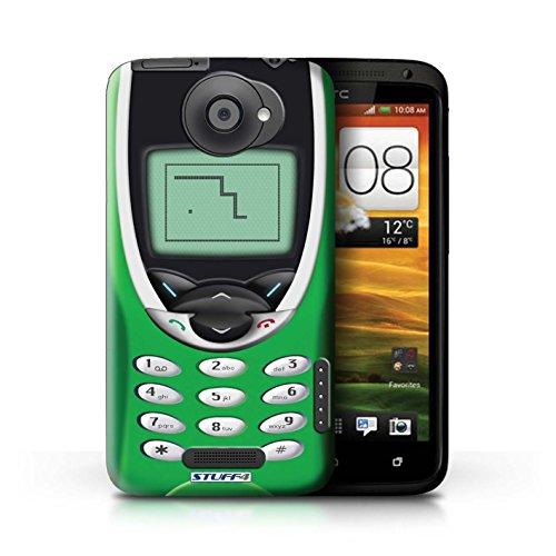 Kobalt® Imprimé Etui / Coque pour HTC One X / Nokia 3310 bleu conception / Série Portables rétro Nokia 8210 vert