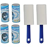 Nyrwana Plastic Lint Roller Set of 6 ,120 sheets