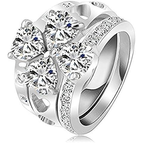Alimab Gioielli Donne signore anelli di fidanzamento anelli di nozze amore anelli anelli d'oro oro