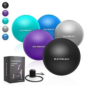 CANWAY Gymnastikball Gymnastic Ball Pezziball Gymnastikbälle Rutschfest mit Luftpumpe Maximalbelastbarkeit bis zu 700kg in den Größen 65cm