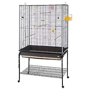 ferplast planeta cage oiseau avec pied sur roulette pour oiseaux 97 x 58 x 173 5 cm. Black Bedroom Furniture Sets. Home Design Ideas