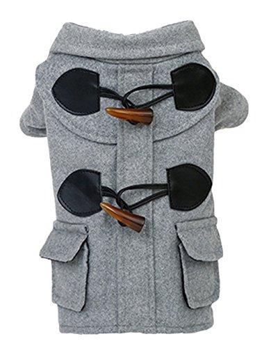 La Vogue-Giacca Invernale per Cane Cappotto Monopetto Animale abbigliamento Busto 47cm Grigio