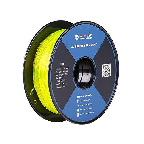 SainSmart TPU 3D-Drucker Filament, 1,75 mm, 0,8 kg, Gelb -