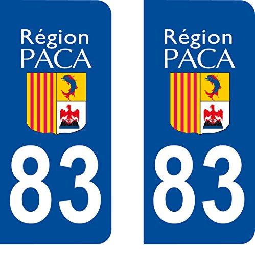 2 stickers autocollant style plaque immatriculation d partement 83 123autos. Black Bedroom Furniture Sets. Home Design Ideas