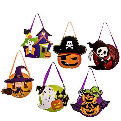 stücke Halloween Parteibevorzugung Taschen Beutel Süßigkeiten Nette Papiertüten DIY Spielzeug Taschen Party Geschenk Taschen Beutel Party Supplies (zufällige Farbe) ()