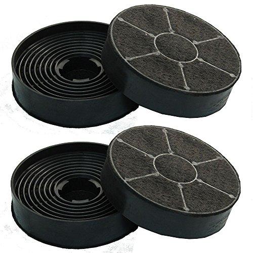 Sparset 4 Stück Kohlefilter für S2 Baumatic Aktivkohlefilter
