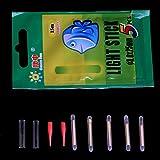 Qiman 5 Stücke Fluoreszierende Angeln Blinklicht Nachtlicht Clip Auf Stick Dark Glow
