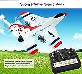 Ferngesteuerte Ebene,Sonnena FX-823 2.4 g 2ch RC Flugzeug Glider Fernbedienung Flugzeug Outdoor Aircraft weiß/USB aufladen/fern Abstand: 80 Meter