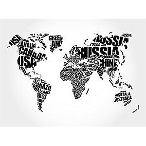 Fotomural Vinilo Pared Mapa tipográfico   Varias Medidas 100x70cm   Ideal para la decoración de comedores, Salones   Motivos Paisajísticos   Urbes, Naturaleza, Arte Diseño Elegante
