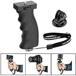 Fantaseal® Poignée Grip Robuste, Portable Caméra Monopode Ergonomique Support pour Gopro Poignée Grip pour 1/4''DSLR Caméra Nikon Canon Pentax Olympus/GoPro Hero5/4/3+/Session etc