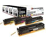 Original Reton Toner, kompatibel, 4er Farbset für HP PRO CP1525N (CE320A, CE321A, CE322A, CE323A), HP 128A, Color Laserjet PRO CP1525N, CM1415, CP1525NW, CM1415 MFP, CM1415FNW MFP