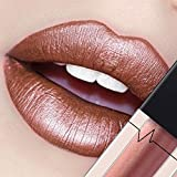 CICIYONER Damen Metall Lippenstift Lip Gloss Liquid Lippe Kosmetik, 24 Farben (12 #)