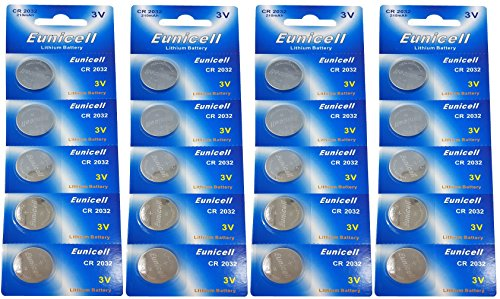 Eunicell 20 X CR2032 3 V batteria a bottone al litio 210 mAh (4 Blister ercards a 5 Batterie) prodotto di m