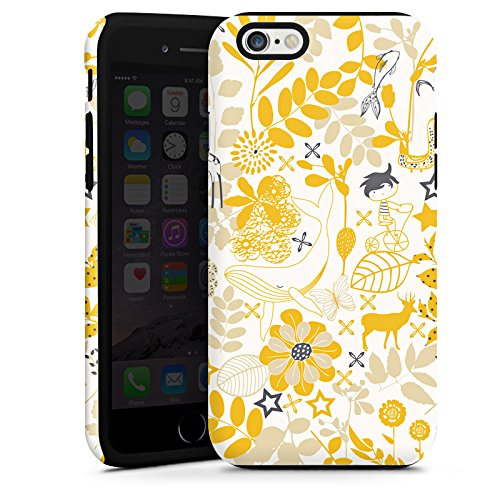 Apple iPhone 6 Housse Étui Silicone Coque Protection Motif Motif Fleurs Cas Tough terne