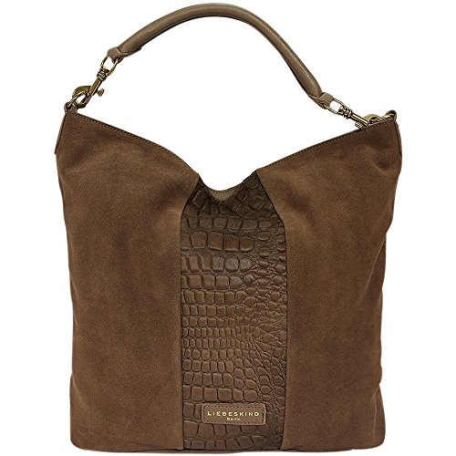 Liebeskind BerlinFenja pony embossed/suede/vintage - Borse a Tracolla Donna (Marrone)