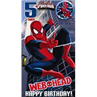 Ultimate Spider-man Age 5 Badge Birthday Card
