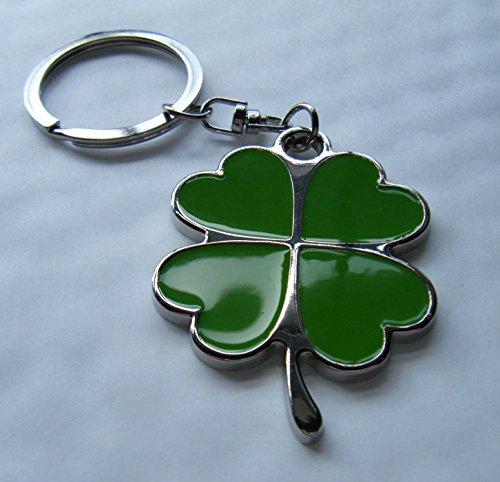 lucky-trefle-4-feuilles-porte-cles-en-metal-chrome-trefle-vert-email-coffret-cadeau