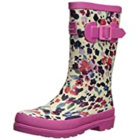 Joules Girls Welly Rain Boot, Inky Sky Ditsy, 3 Medium UK Little Kid (4 US)