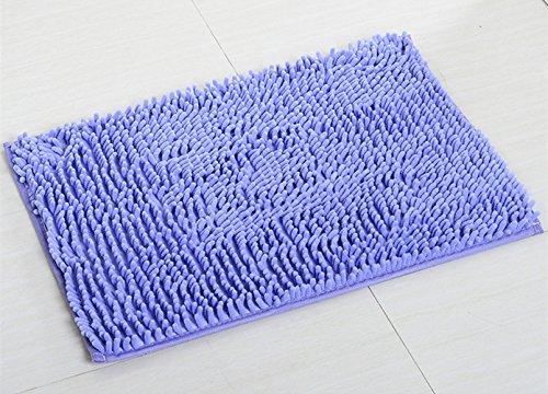 Alfombras de baño, Chickwin Alfombra de baño antideslizante cómodo Alfombra de baño Alfombra de ducha suave super absorbent (40*60 cm, Lila)