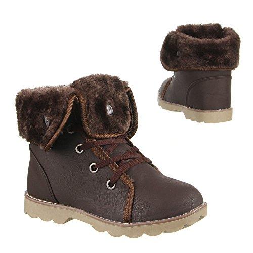 Kinder Schuhe, 650, BOOTS Dunkelbraun