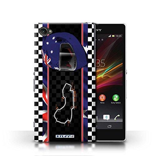 Kobalt® Imprimé Etui / Coque pour Sony Xperia Z1 Compact / Espagne/Catalogne conception / Série F1 Piste Drapeau Australie/Melbourne