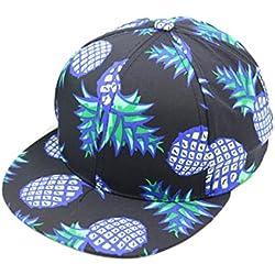 Btruely Herren_Gorra de Béisbol de piña Snapback Sombrero Bboy Gorras Ajustable Sombrero de Hip-Hop Unisex Béisbol Gorra Casual Al Aire Libre Deportes (B)