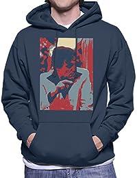 Hugh Hefner Playboy King 1981 Men's Hooded Sweatshirt
