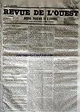Telecharger Livres REVUE DE L OUEST No 57 du 12 05 1853 JOURNAL POLITIQUE ET D ANNONCES (PDF,EPUB,MOBI) gratuits en Francaise